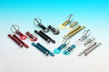 Aluminium-Haubenhalter, Schwarz, Schnellverschluss, Rallye, Racing, Bonnet pin