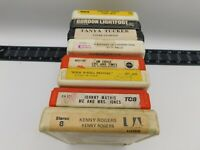 8 Track Lot of 8 Kenny Rogers Tanya Tucker Lightfoot Croce Mathis Kitty Wells