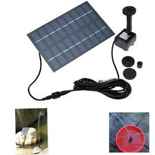 Solar Powered Submersible Water Pump Fountain Pond Lights Garden 1.8W 9V US