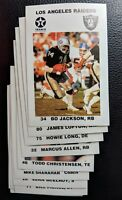 1988 TEXACO LOS ANGELES RAIDERS SET W/ BO JACKSON ROOKIE CARD RC HOFERS CLEAN