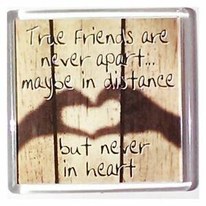 History & Heraldry Sentiment Fridge Magnets True Friends are Never Apart