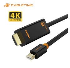 CABLETIME Mini Displayport to HDMI Cable 4K/HD Thunderbolt 2 Mini Display Port A