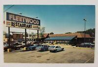Postcard Fleetwood Restaurant Old Cars Dirksen Parkway Springfield Illinois