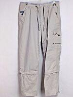 Columbia Womens sz S 30x30 Beige Nylon Zip Off Hiking Pants