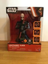 NEW Star Wars Rebels, The Grand Inquisitor Lightsaber Kids Clock -Toys and Games