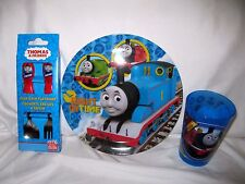 Thomas the train Right on Time Mealtime Dinnerware Set Plate,Flatware and Cup