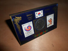 1988 Olympic Games Seoul COMMEMORATION THE '88 Olympic Stamps Basketball Coin