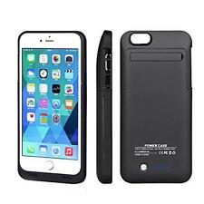 Black 3500mAh External Battery Charger Battery Back Up Case for iPhone 6 4.7""