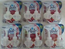 12 Glade Plugins Scented Oil Warmer Refills Apple Cinnamon No Box Free SH Happy