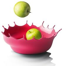 Neo Red Menu Dropp! Silicone Fruit Bowl Modern Euro Style Home Design Decor Pink