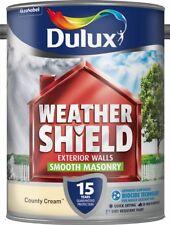 Dulux WeatherShield Exterior Smooth Masonry Paint 5l County Cream