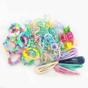 220Pcs Kids Girl Elastic Rubber Hair Ties Band Rope Ponytail Holder Scrunchie