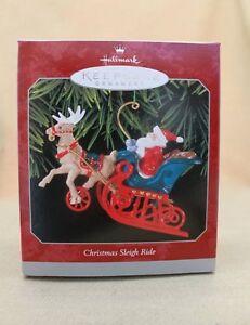 1998 Hallmark Die Cast Metal Ornament CHRISTMAS SLEIGH RIDE QX6556