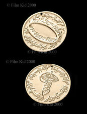 Hobbit Money COIN GOLD Plated LOTR Elven Leaf SMAUG The Lord of The Rings Ring