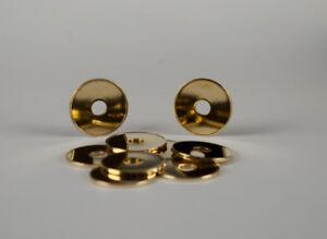 Restposten! 580 Stück, 24,0mm x 1,5mm, Münzen, Messing, gelocht, neutral geprägt