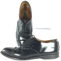 Cole Haan Oxford Men's 10.5 D Black Leather Cap Toe Lace Up Dress Shoe USA