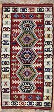 Beautiful Bessarabian - 1960s Antique Romanian Kilim - Tribal Rug - 2 x 3.10 ft