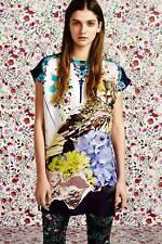 MARY KATRANTZOU Topshop blue white yellow silk eagle floral tunic dress S Small