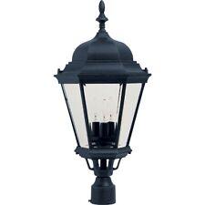 Maxim Westlake Cast 3-Light Outdoor Pole/Post Lantern Black - 1007BK