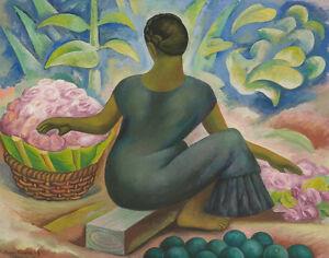 Diego Rivera Flower Seller Canvas Print 16 x 20  #7344