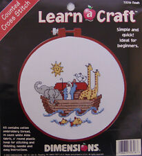 NEW Dimensions Cross Stitch Kit NOAH #73316 Ark Animals Religion FREE SHIPPING