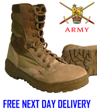 BRITISH ARMY DESERT TAN MAGNUM ASSAULT Patrol Combat Amazon 5 Boots suede issue