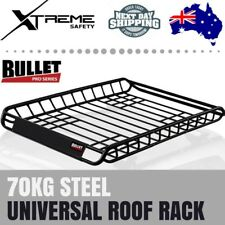 Bullet Steel Carrier Cage Cargo Luggage Basket 70KG Universal Vehicle Roof Rack