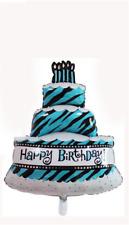 palloncino festa compleanno 90 cm torta  party set sweet table azzurro