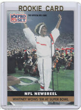 ONLY RC~WHITNEY HOUSTON 1991 Pro Set ROOKIE CARD~'91~SUPER BOWL~National Anthem