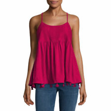 a.n.a. Women's Knit Tank Top Cami Lush Berry Color Size LARGE New