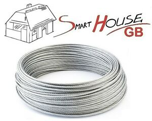 1mm 1.5mm 2mm 3mm 4mm 5mm 6mm 8mm STAINLESS Steel Wire Rope Cable Rigging Extra