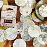 46pcs Vintage Poster Map DIY Diary Stickers Paper Lables Gifts Packaging Deco ng