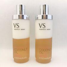 2 Victoria's Secret Perfect Body Twice As Fresh Coconut Oil Silkening Body Wash
