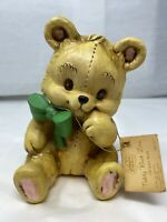 VINTAGE DESIGNERS COLLECTION TEDDY BEAR  CERAMIC BANK WITH TAG OLD COIN BANK