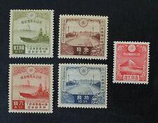 Ckstamps: Japan Stamps Collection Scott#218-221 222 Mint Nh Og