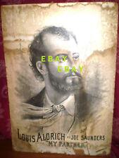 "19th Century Broadway Lithograph ""My Partner"" Louis Aldrich Star"