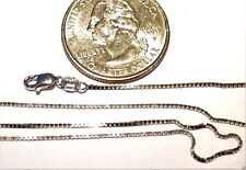 14kt White Gold 30 inch .8MM BOX Chain with Lobster Lock 100% Guaranteed!
