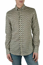 "Dolce & Gabbana ""Sicilia"" Men's Long Sleeve Dress Shirts US 14.5 15 15.5 16 17"