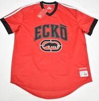 Ecko Unltd Jersey T-Shirt Men Size XL Embroidered Logo V-Neck Tee Red Urban P125