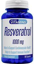 Resveratrol Capsules 1000mg Serving - 180 Capsules - We Like Vitamins