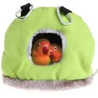 Pet Bird Parrot Parakeet Warm Hammock Cage Hut Tent Hanging Plush Cave Bed BS