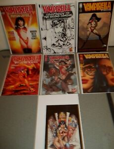 Vampirella mixed lot of 7 - Bloodlust Classics Red Sonja Countdown Preview ++