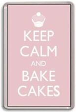 KEEP CALM AND BAKE CAKES Fridge Magnet