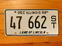 ILLINOIS LAND OF LINCOLN VINTAGE  LICENSE PLATE/TAG ~47 662~