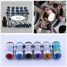 20X Blue Alloy Steel M12X1.5 Racing Plum Car Hub Anti-theft Nuts Screw Universal