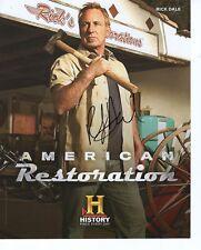 RICK DALE HAND SIGNED 8x10 COLOR PHOTO+COA         AMERICAN RESTORATION