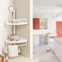 2 Tier Adjustable Shelf Corner Shower Caddy Storage Bathroom Rack Organiser
