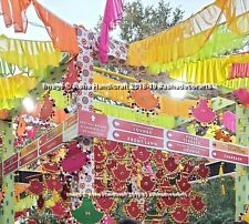 Traditional Hippie Party Wedding Decorative Hanging Pankhi Fans Spinner Handmade