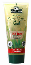 1 Pack of Aloe Pura Skin Treatment - Aloe Vera Organic Gel with Tea Tree - 200ml