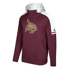 Texas State Bobcats NCAA Adidas Men's Maroon Game Built Sideline Player Hoodie